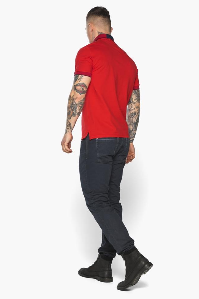 Красная модная футболка поло мужская модель 5640 Braggart фото 8