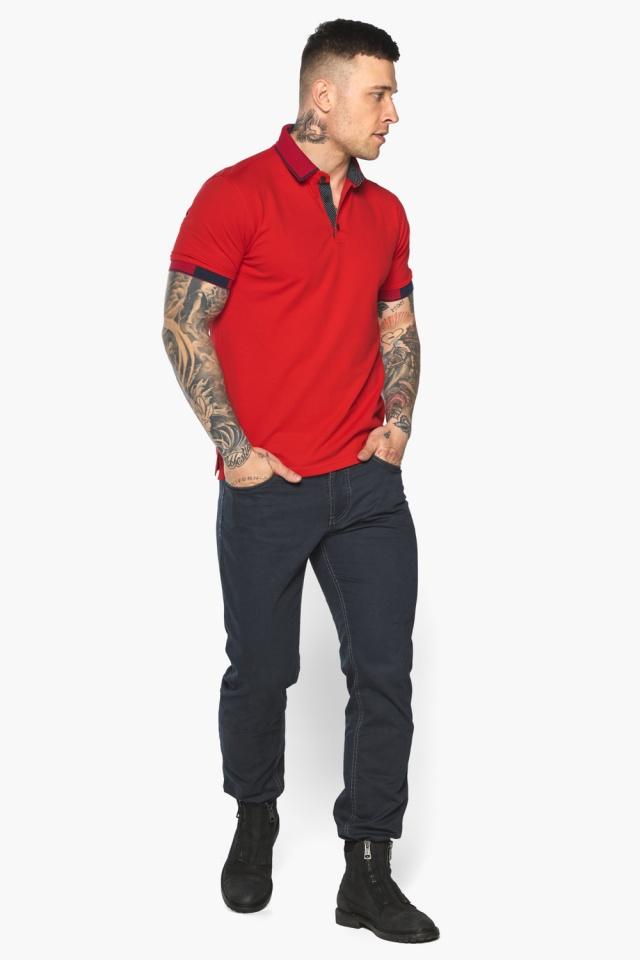 Красная модная футболка поло мужская модель 5640 Braggart фото 6