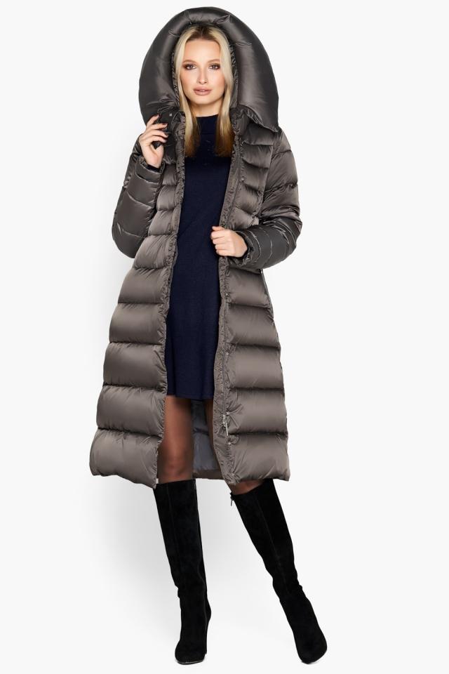 """Зимняя куртка женская цвет капучино модель 31515 Braggart """"Angel's Fluff"""" фото 3"""