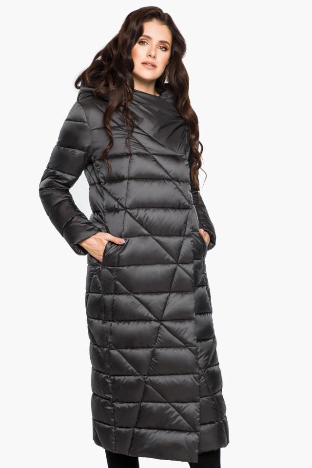 """Графитовая женская куртка на зиму модель 31058 Braggart """"Angel's Fluff"""" фото 5"""