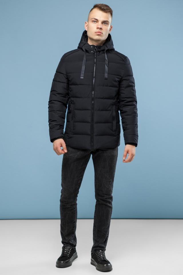 Модная мужская зимняя куртка чёрная модель 6008 Kiro Tokao – Ajento фото 2