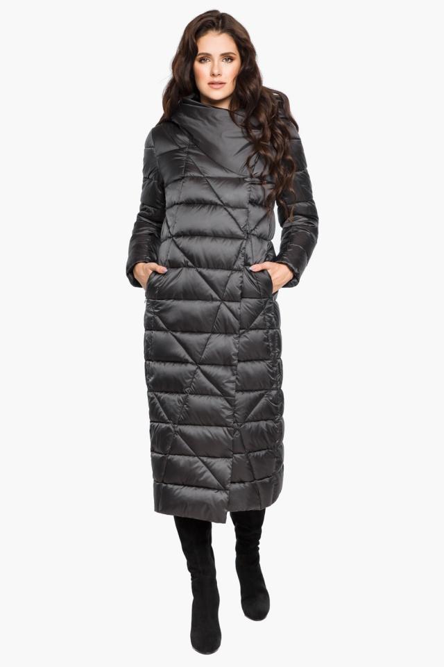 """Графитовая женская куртка на зиму модель 31058 Braggart """"Angel's Fluff"""" фото 4"""