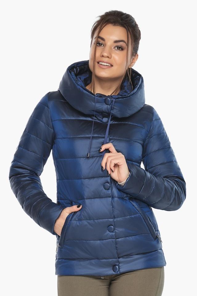 """Женская куртка оригинальная цвет сапфировый модель 61030 Braggart """"Angel's Fluff"""" фото 5"""