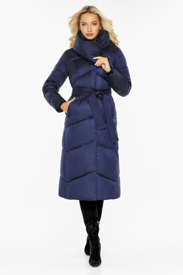 """Куртка зимняя женская теплая цвет синий бархат модель 47260 Braggart """"Angel's Fluff"""" фото 5"""