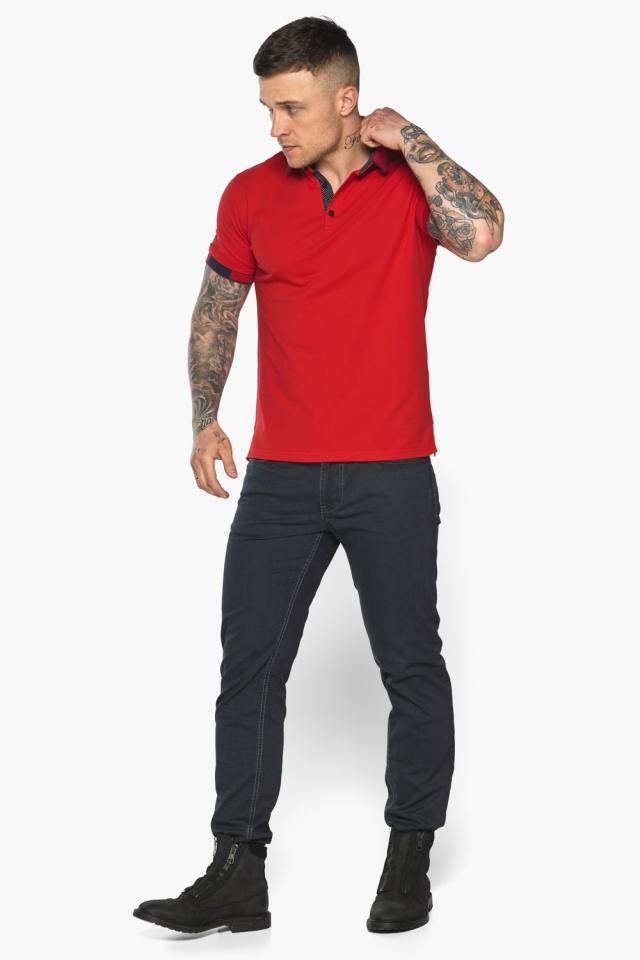 Красная модная футболка поло мужская модель 5640 Braggart фото 7