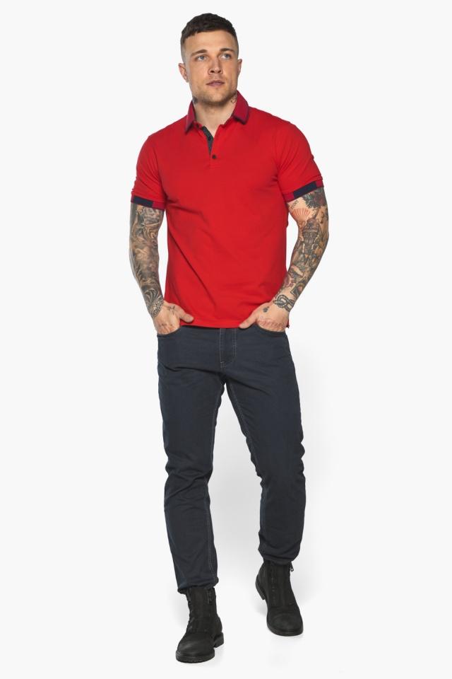 Красная модная футболка поло мужская модель 5640 Braggart фото 5