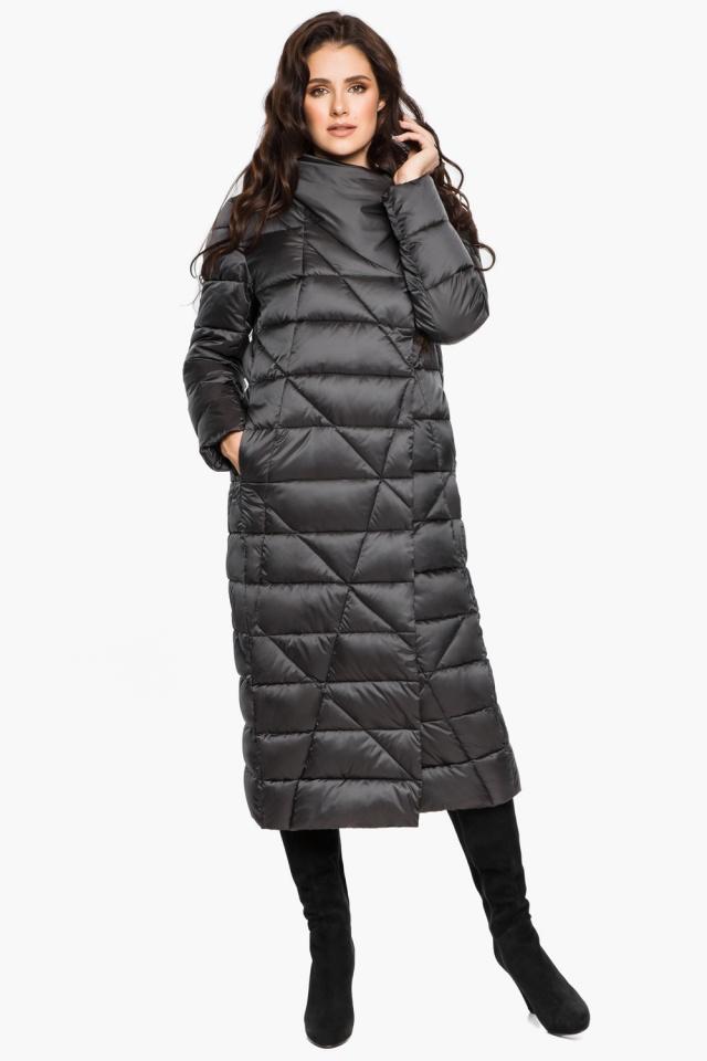 """Графитовая женская куртка на зиму модель 31058 Braggart """"Angel's Fluff"""" фото 6"""