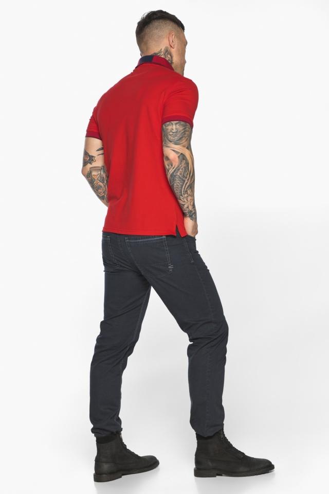Красная модная футболка поло мужская модель 5640 Braggart фото 9
