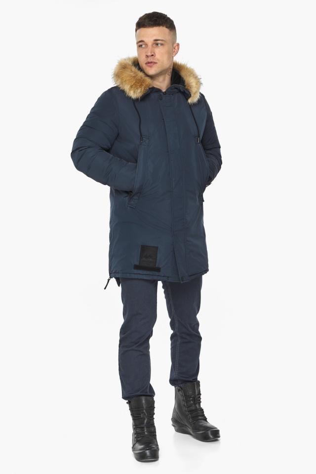 "Парка – воздуховик мужской тёмно-синий комфортный зимний модель 30551 Braggart ""Angel's Fluff Man"" фото 2"