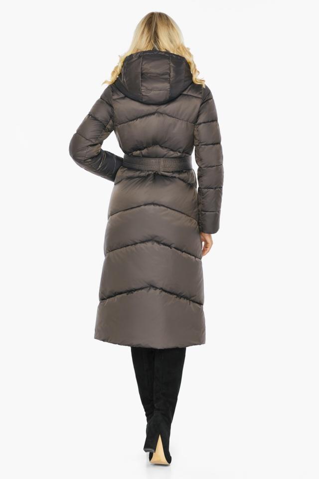 """Капучиновая зимняя куртка женская с карманами модель 47260  Braggart """"Angel's Fluff"""" фото 7"""
