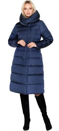 """Синяя зимняя куртка женская длинная модель 31515 Braggart """"Angel's Fluff"""" фото 1"""