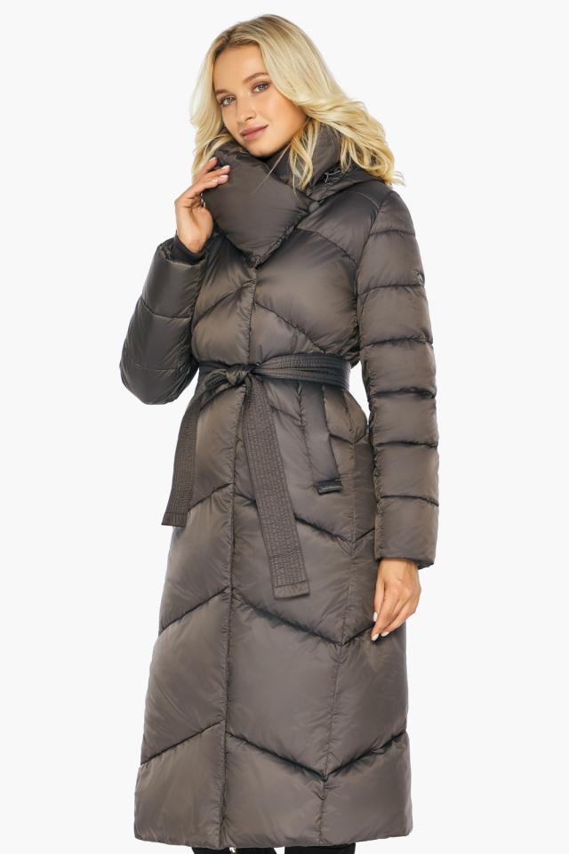 """Капучиновая зимняя куртка женская с карманами модель 47260  Braggart """"Angel's Fluff"""" фото 4"""