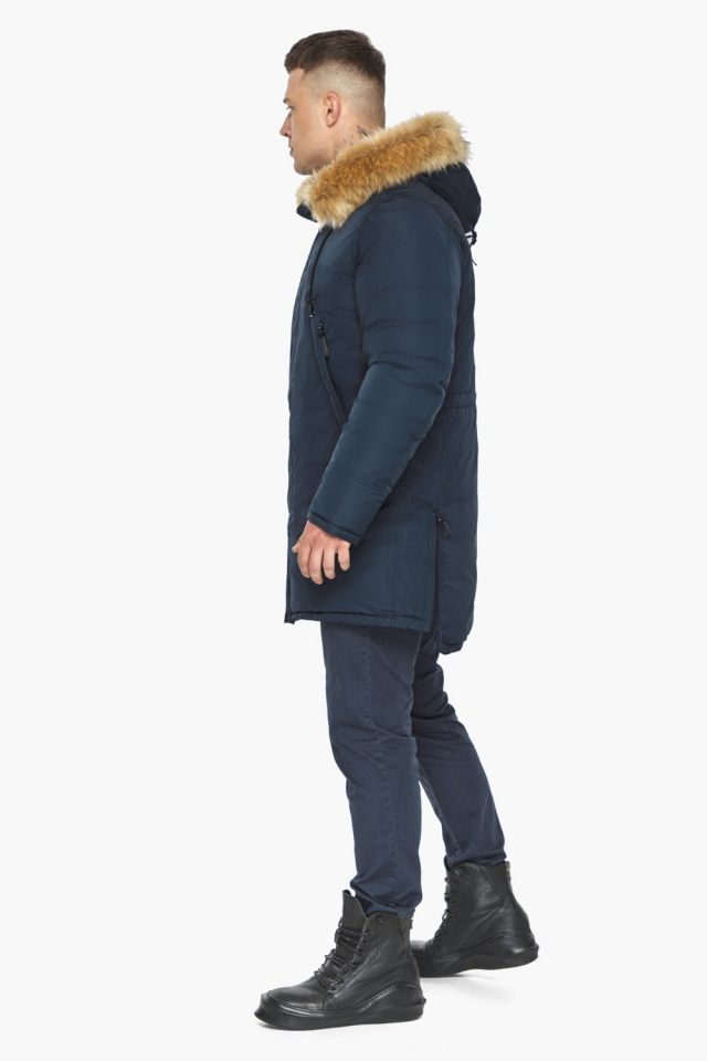 "Парка – воздуховик мужской тёмно-синий комфортный зимний модель 30551 Braggart ""Angel's Fluff Man"" фото 8"