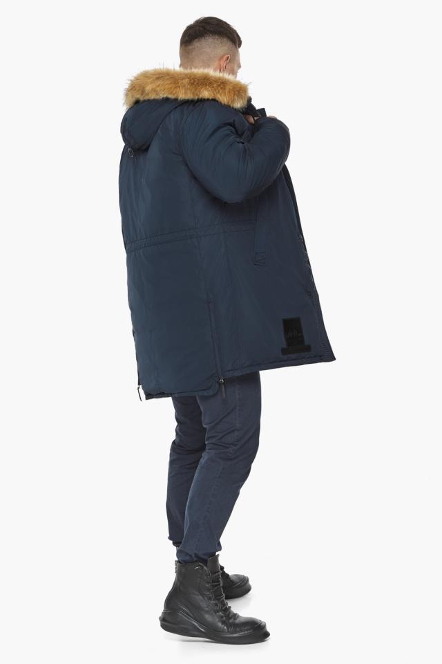 "Парка – воздуховик мужской тёмно-синий комфортный зимний модель 30551 Braggart ""Angel's Fluff Man"" фото 6"