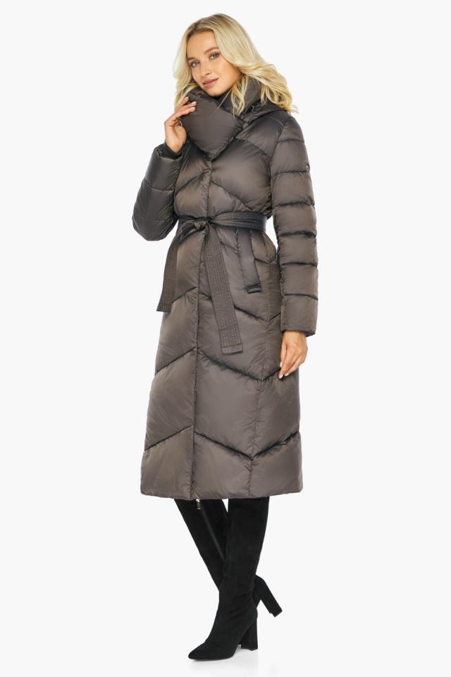 """Капучиновая зимняя куртка женская с карманами модель 47260  Braggart """"Angel's Fluff"""" фото 6"""