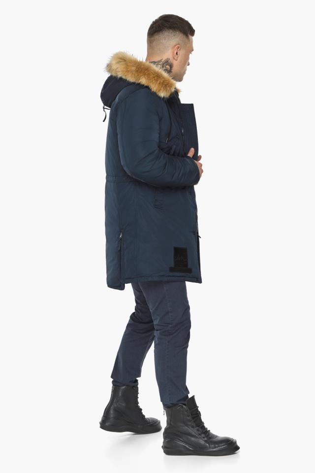 "Парка – воздуховик мужской тёмно-синий комфортный зимний модель 30551 Braggart ""Angel's Fluff Man"" фото 7"