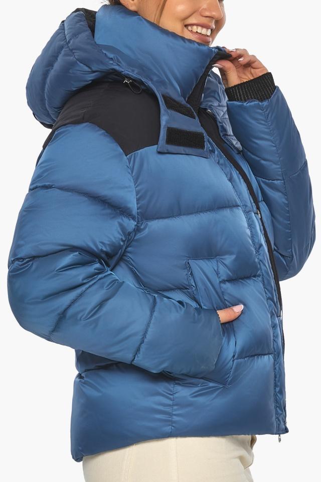 """Куртка женская стильная аквамариновая модель 57520 Braggart """"Angel's Fluff"""" фото 9"""