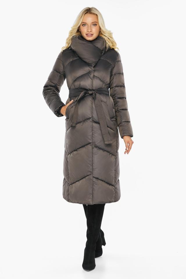 """Капучиновая зимняя куртка женская с карманами модель 47260  Braggart """"Angel's Fluff"""" фото 5"""
