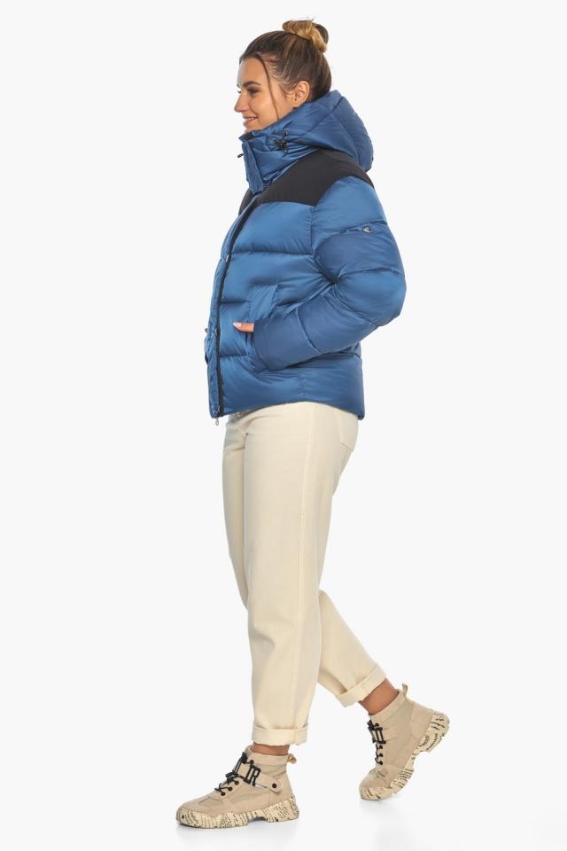 """Куртка женская стильная аквамариновая модель 57520 Braggart """"Angel's Fluff"""" фото 7"""