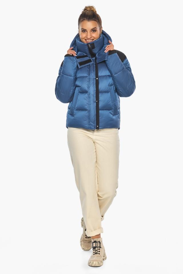 """Куртка женская стильная аквамариновая модель 57520 Braggart """"Angel's Fluff"""" фото 2"""