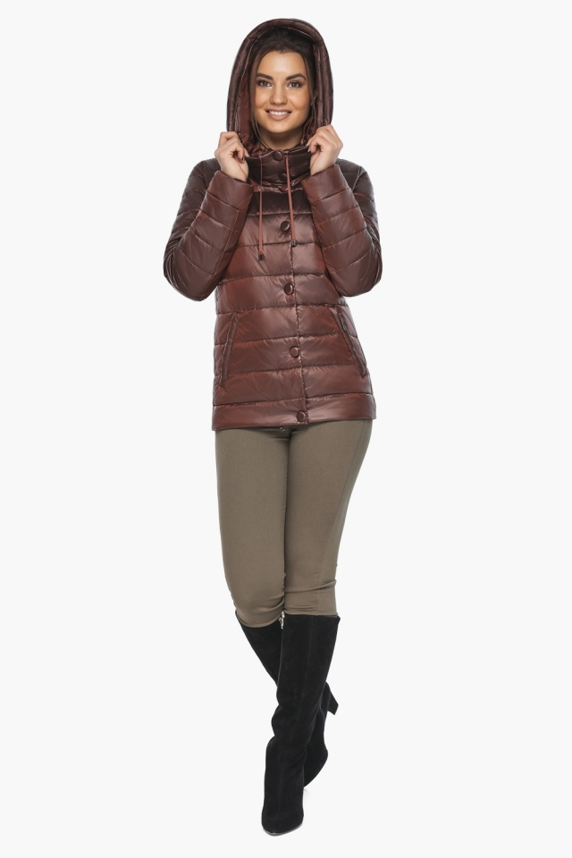 """Куртка каштановая женская фирменная модель 61030 Braggart """"Angel's Fluff"""" фото 2"""