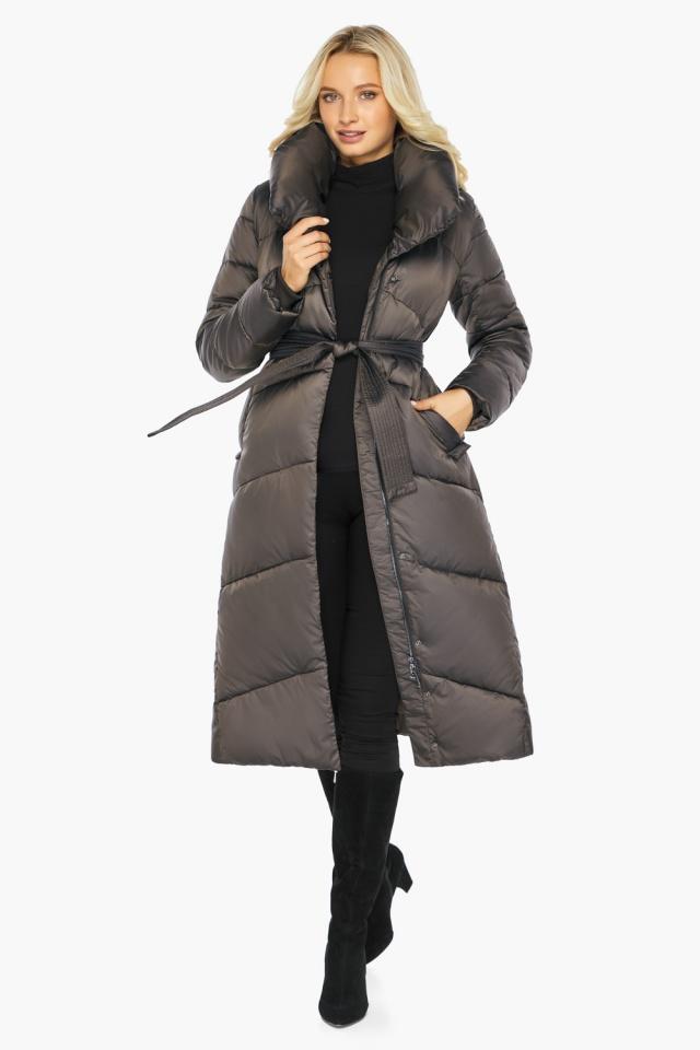 """Капучиновая зимняя куртка женская с карманами модель 47260  Braggart """"Angel's Fluff"""" фото 2"""