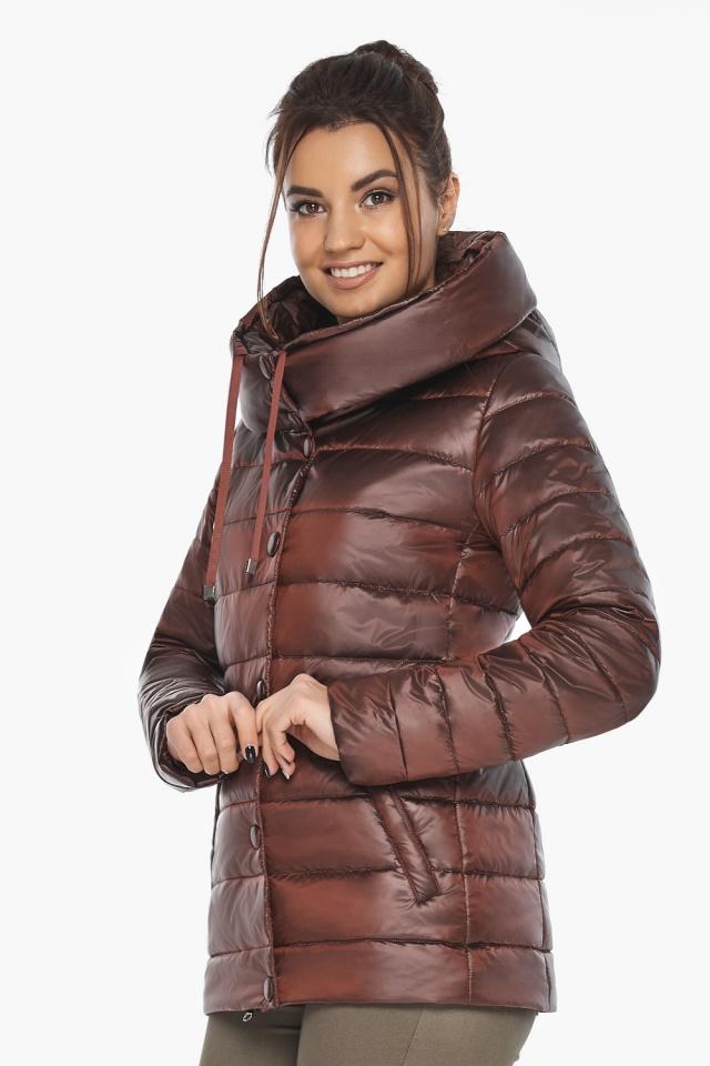 """Куртка каштановая женская фирменная модель 61030 Braggart """"Angel's Fluff"""" фото 3"""