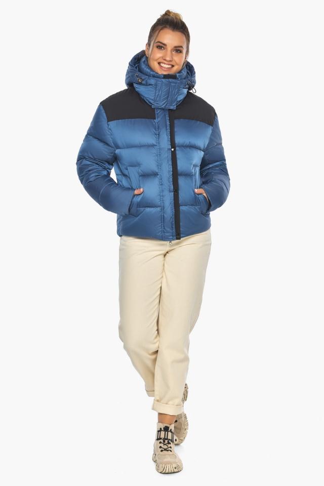 """Куртка женская стильная аквамариновая модель 57520 Braggart """"Angel's Fluff"""" фото 6"""