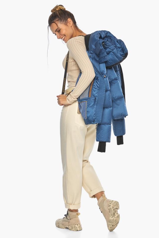 """Куртка женская стильная аквамариновая модель 57520 Braggart """"Angel's Fluff"""" фото 4"""