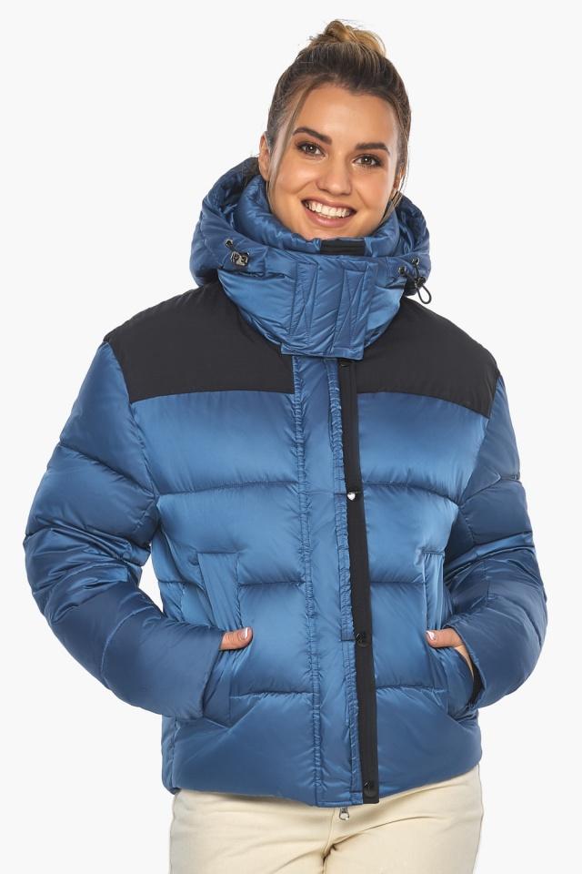 """Куртка женская стильная аквамариновая модель 57520 Braggart """"Angel's Fluff"""" фото 3"""