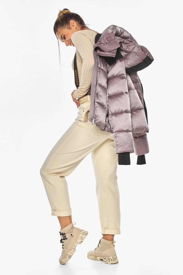 """Куртка пудровая элегантная женская модель 57520 Braggart """"Angel's Fluff"""" фото 5"""