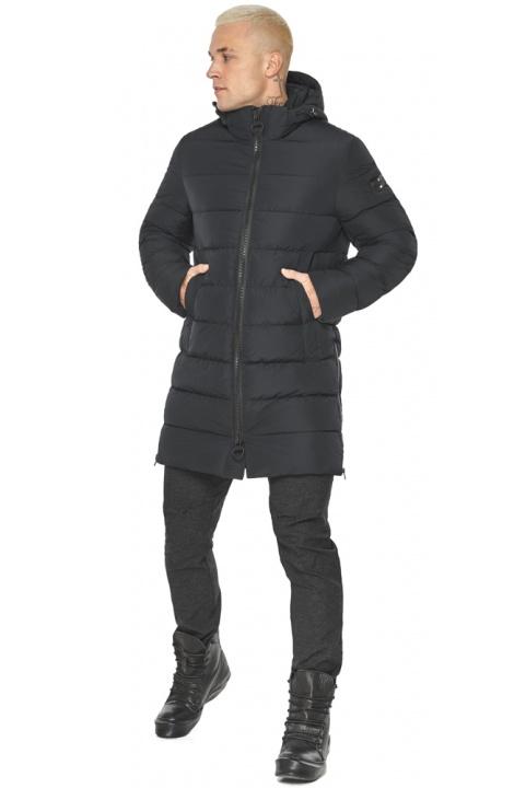 "Чёрная зимняя куртка мужская фирменная модель 49032 Braggart ""Aggressive"" фото 1"