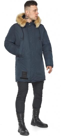 """Парка – воздуховик стильный графитово-синий мужской зимний модель 30551 Braggart """"Angel's Fluff Man"""" фото 1"""