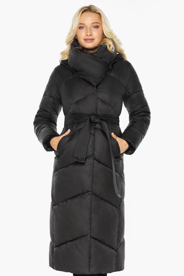 """Куртка черная женская на зиму длинная модель 47260 Braggart """"Angel's Fluff"""" фото 5"""