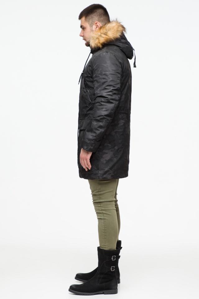 """Стильная брендовая парка на подростка чёрная модель 25500 Braggart """"Youth"""" фото 5"""