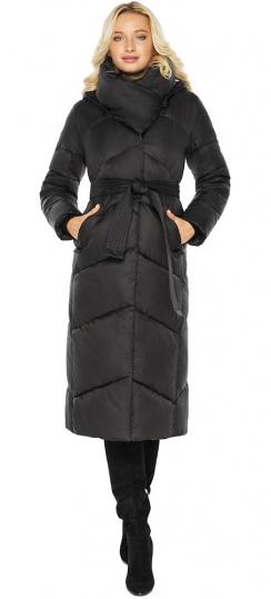 """Куртка черная женская на зиму длинная модель 47260 Braggart """"Angel's Fluff"""" фото 1"""