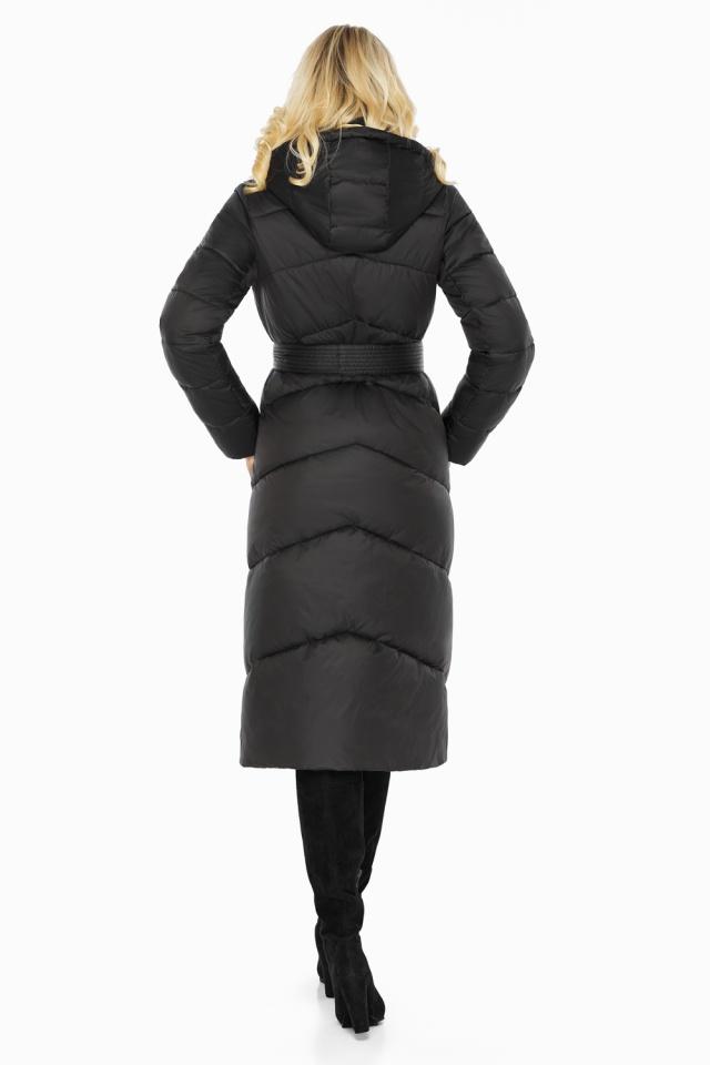 """Куртка черная женская на зиму длинная модель 47260 Braggart """"Angel's Fluff"""" фото 6"""