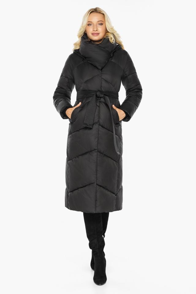"""Куртка черная женская на зиму длинная модель 47260 Braggart """"Angel's Fluff"""" фото 2"""