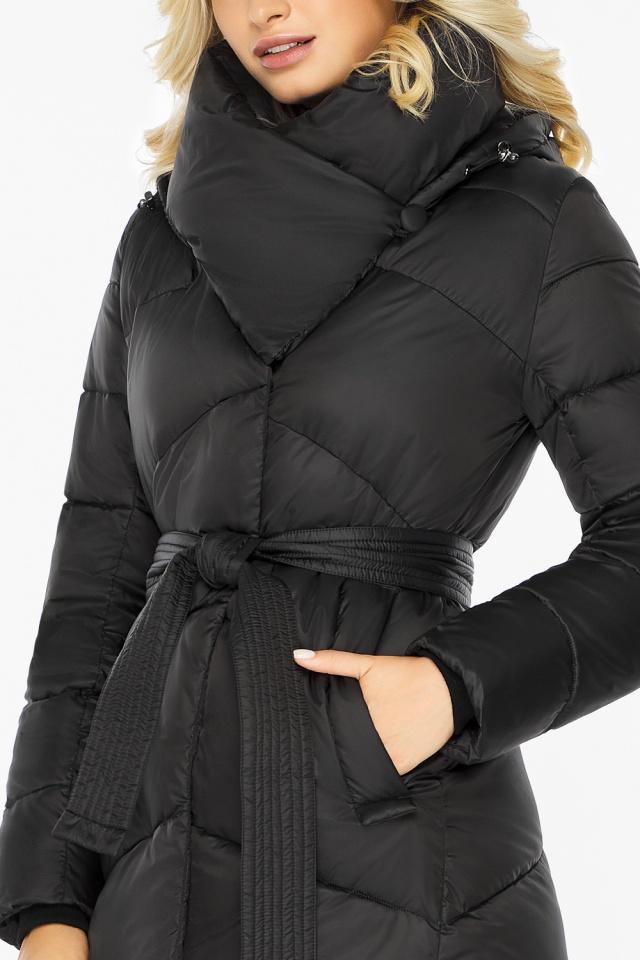 """Куртка черная женская на зиму длинная модель 47260 Braggart """"Angel's Fluff"""" фото 7"""