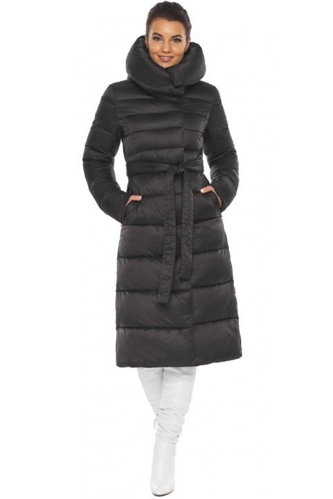 """Чёрная зимняя женская куртка с капюшоном модель 31515 Braggart """"Angel's Fluff"""" фото 1"""
