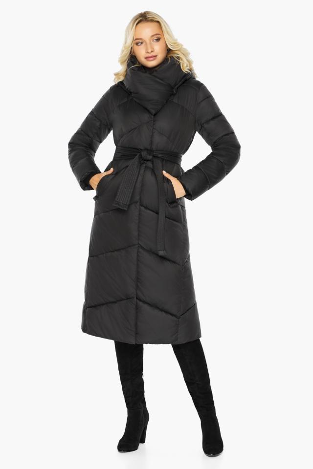 """Куртка черная женская на зиму длинная модель 47260 Braggart """"Angel's Fluff"""" фото 4"""