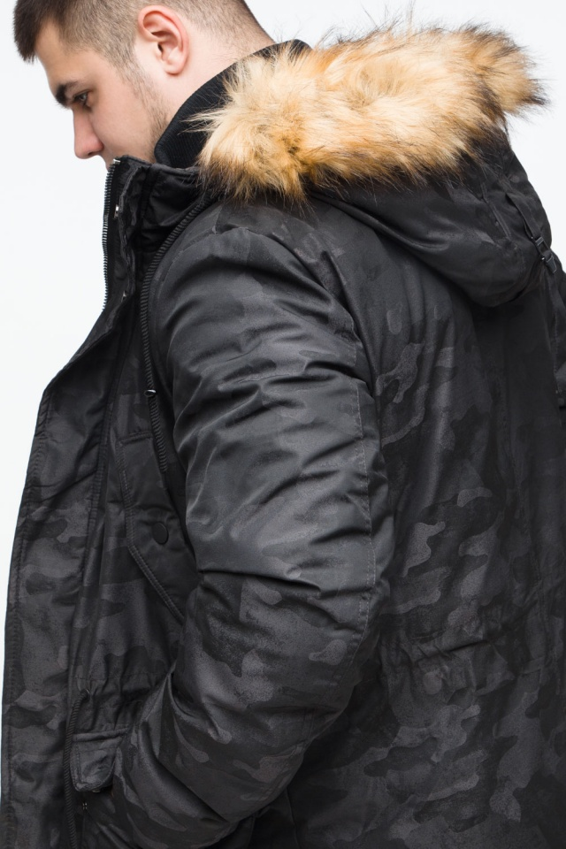 """Стильная брендовая парка на подростка чёрная модель 25500 Braggart """"Youth"""" фото 9"""