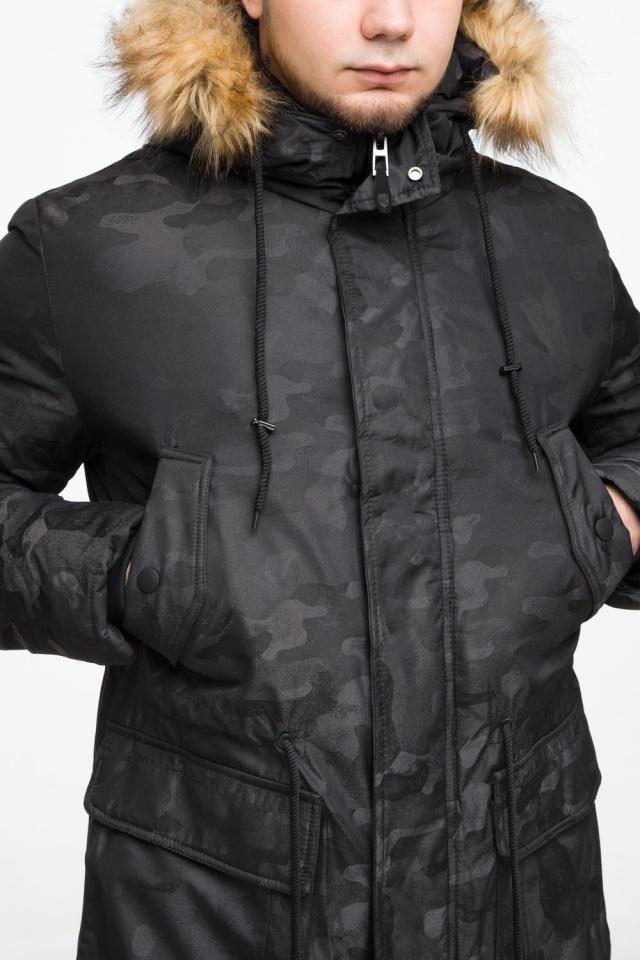 """Стильная брендовая парка на подростка чёрная модель 25500 Braggart """"Youth"""" фото 8"""