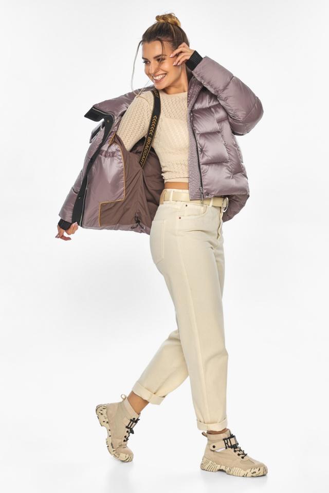 """Куртка пудровая элегантная женская модель 57520 Braggart """"Angel's Fluff"""" фото 3"""