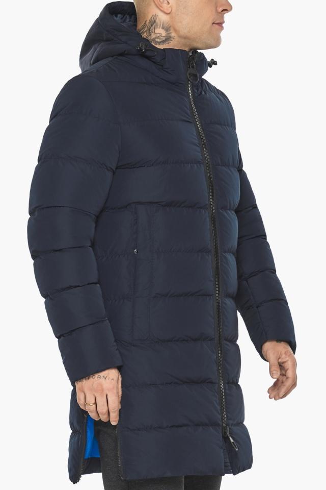 """Тёмно-синяя мужская зимняя куртка удобная модель 49032 Braggart """"Aggressive"""" фото 10"""