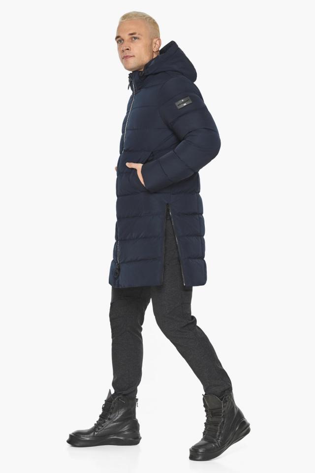 """Тёмно-синяя мужская зимняя куртка удобная модель 49032 Braggart """"Aggressive"""" фото 7"""