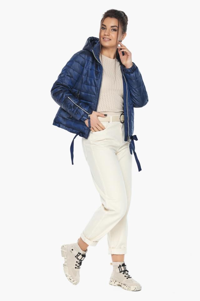 """Сапфировая куртка люксовая женская модель 62574 Braggart """"Angel's Fluff"""" фото 3"""