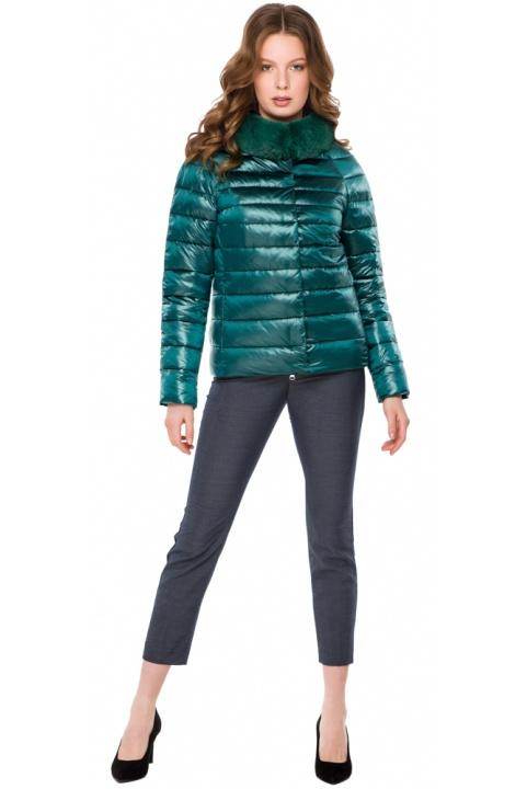 """Изумрудная удобная куртка женская модель 40267 Braggart """"Angel's Fluff"""" фото 1"""
