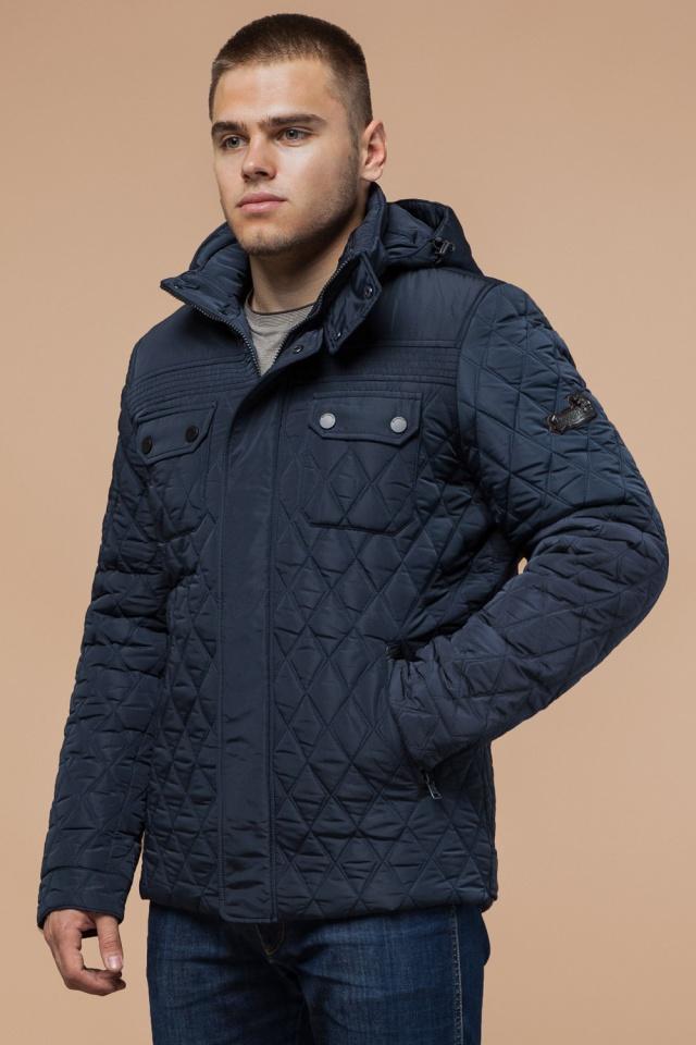 """Мужская качественная светло-синяя куртка на зиму модель 1698 Braggart """"Dress Code"""" фото 4"""