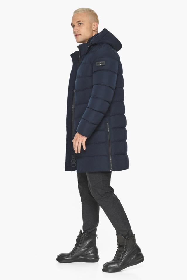 """Тёмно-синяя мужская зимняя куртка удобная модель 49032 Braggart """"Aggressive"""" фото 9"""